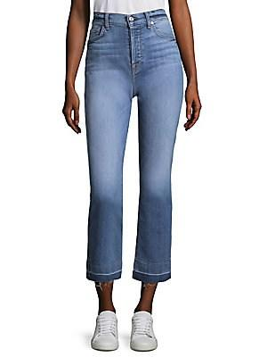 7 For All Mankind Edie Flared Jeans In Light Blue