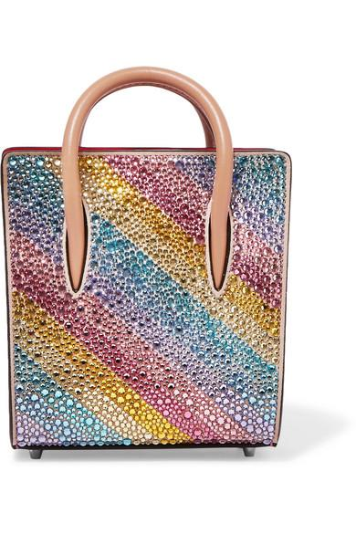 ab7cc512f1c Paloma Nano Embellished Metallic Textured-Leather Tote in Pink