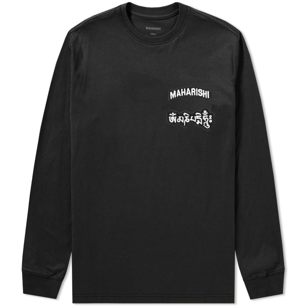 aaffca25d71a9f Maharishi Long Sleeve Ohm Patch Logo Tee In Black