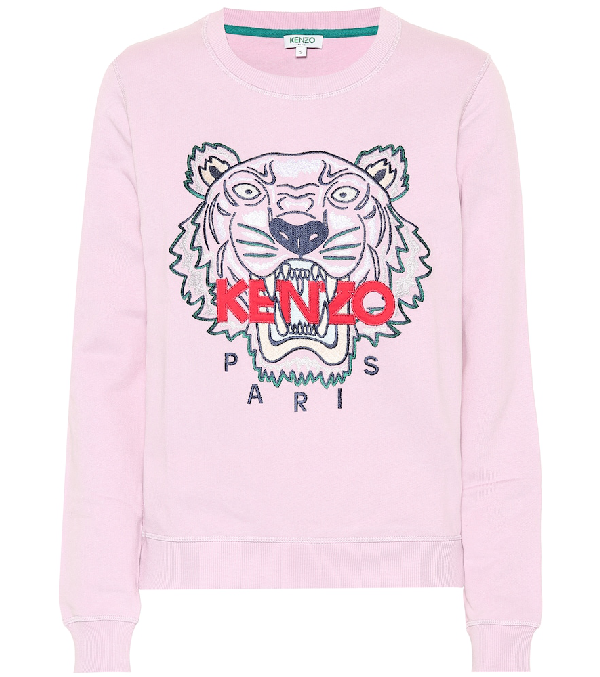 931dcb98 Kenzo Tiger Embroidered Crewneck Sweatshirt In Pink | ModeSens