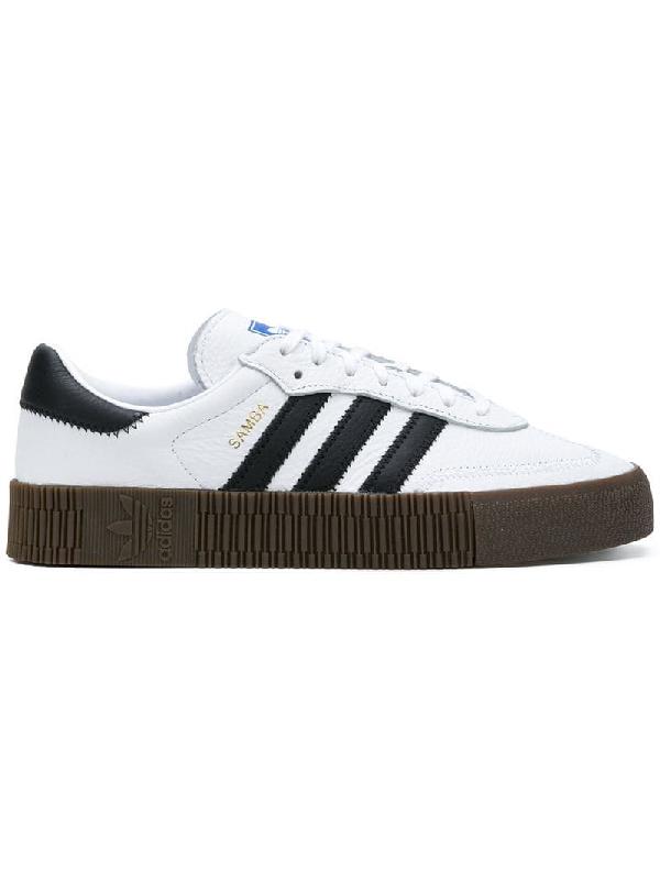 b9d4f9fdb5c Adidas Originals Samba Rose Sneakers In White With Dark Gum Sole - White
