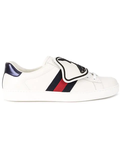 b568ec6d2 Gucci Ace Sneaker With Shark Removable Patches In 9060 Bia/Bia/Brb/R ...
