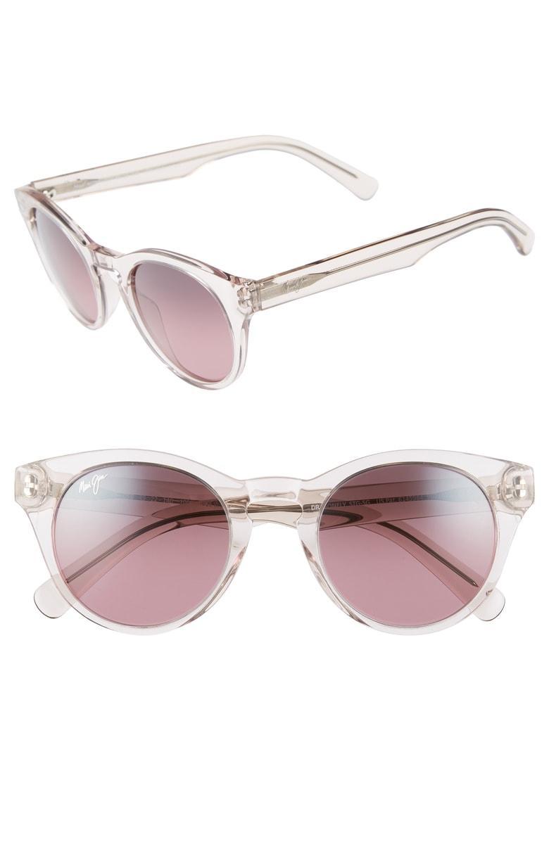 07fddc80992d Maui Jim Dragonfly 49Mm Polarized Cat Eye Sunglasses - Crystal Pink  Maui  Rose