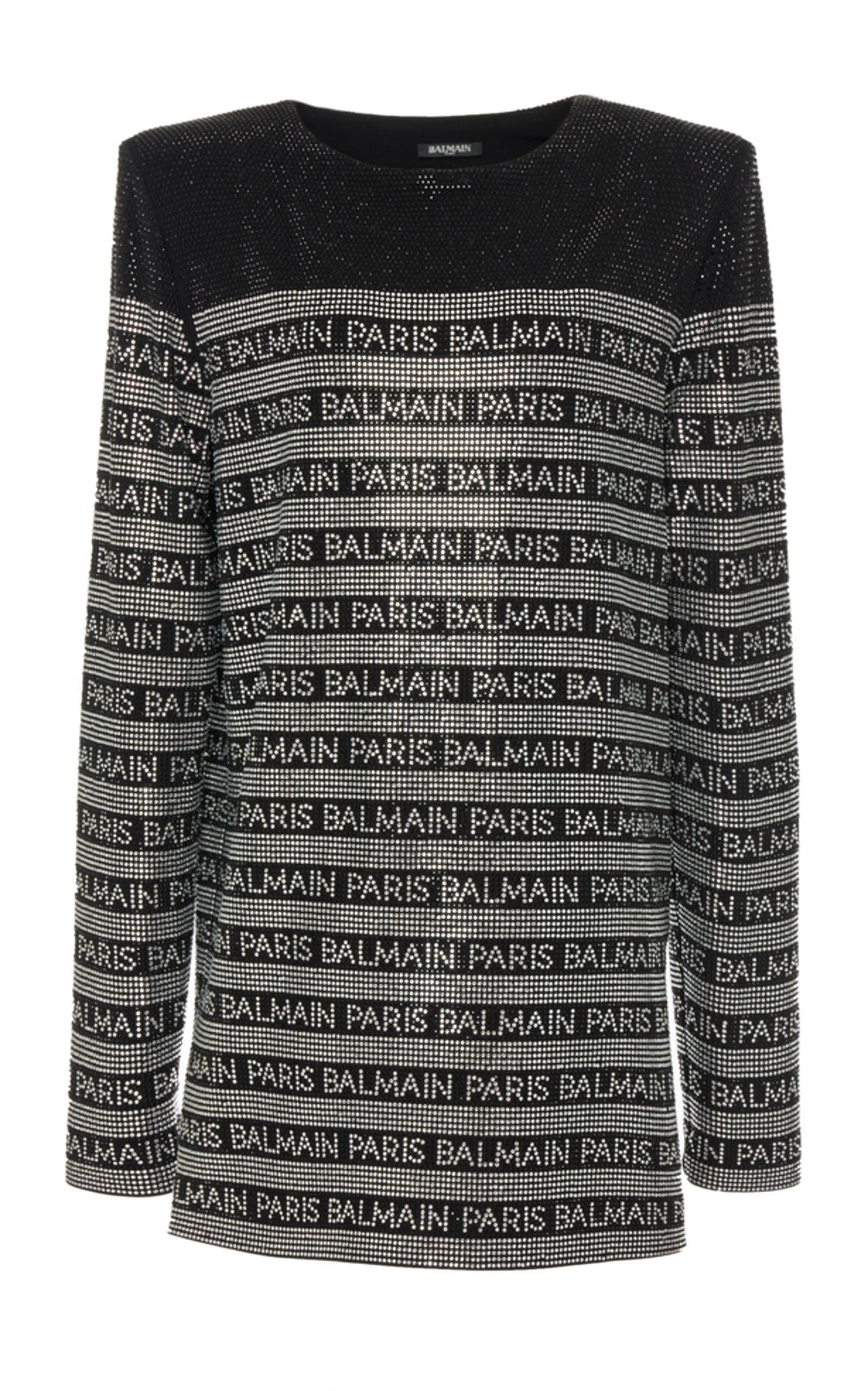 0342dd4d Balmain Strass Stripe Dress In Black | ModeSens