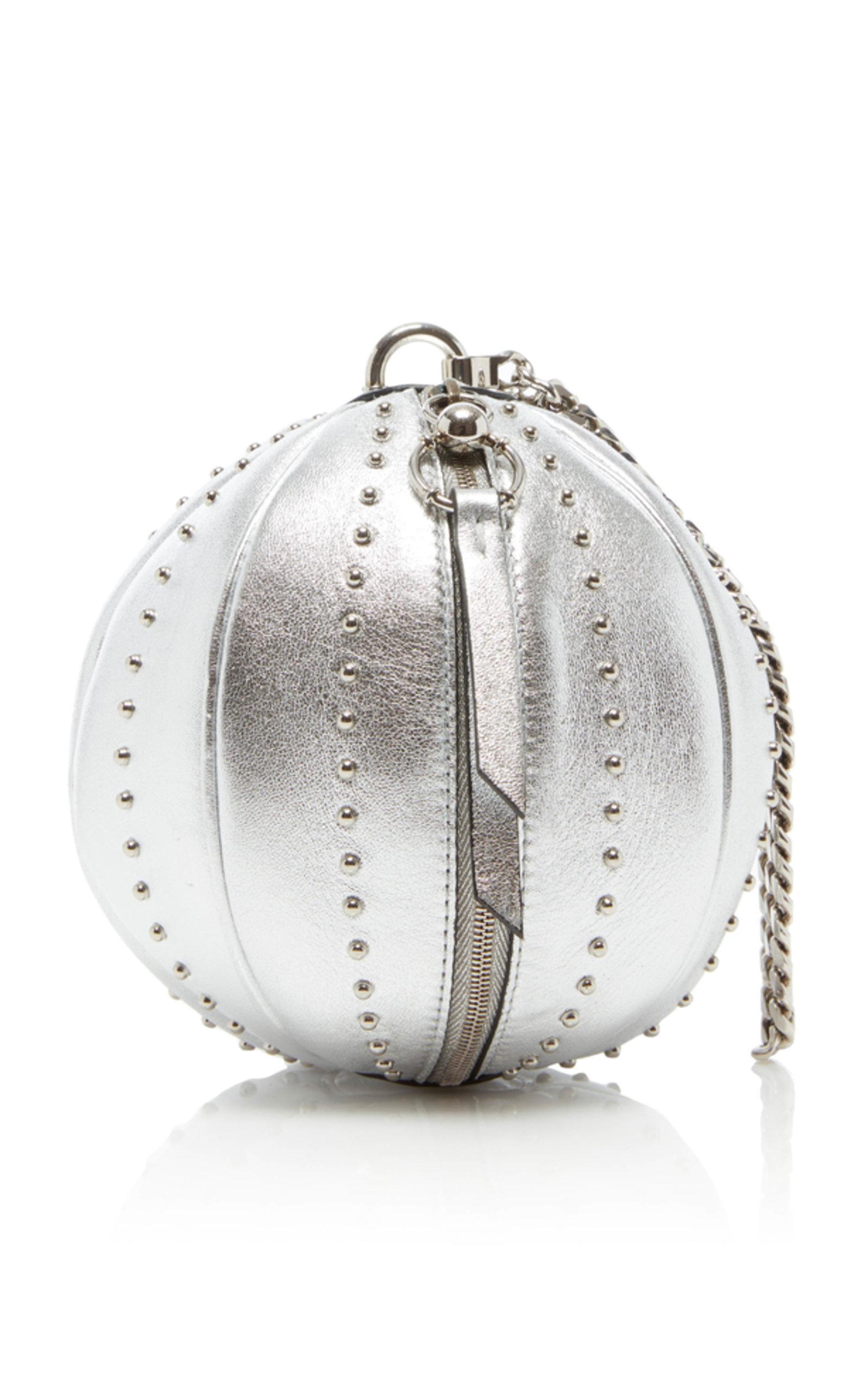 ae792c79fef Balmain Laminated Lambskin Mini Moon Bag In Silver | ModeSens