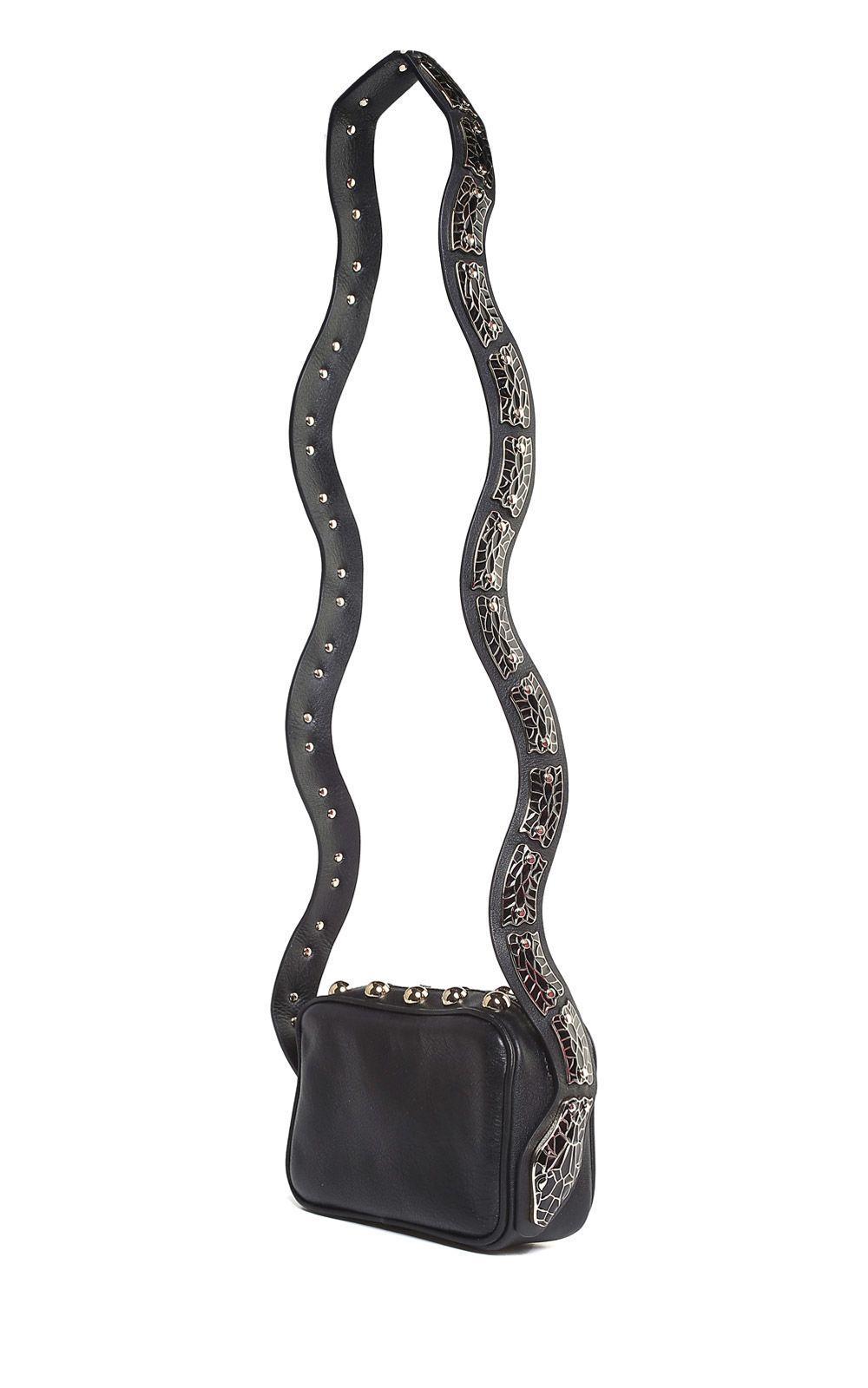 984d4e8dc Red Valentino Mini Sin Snake-Embellished Leather Shoulder Bag In Nero