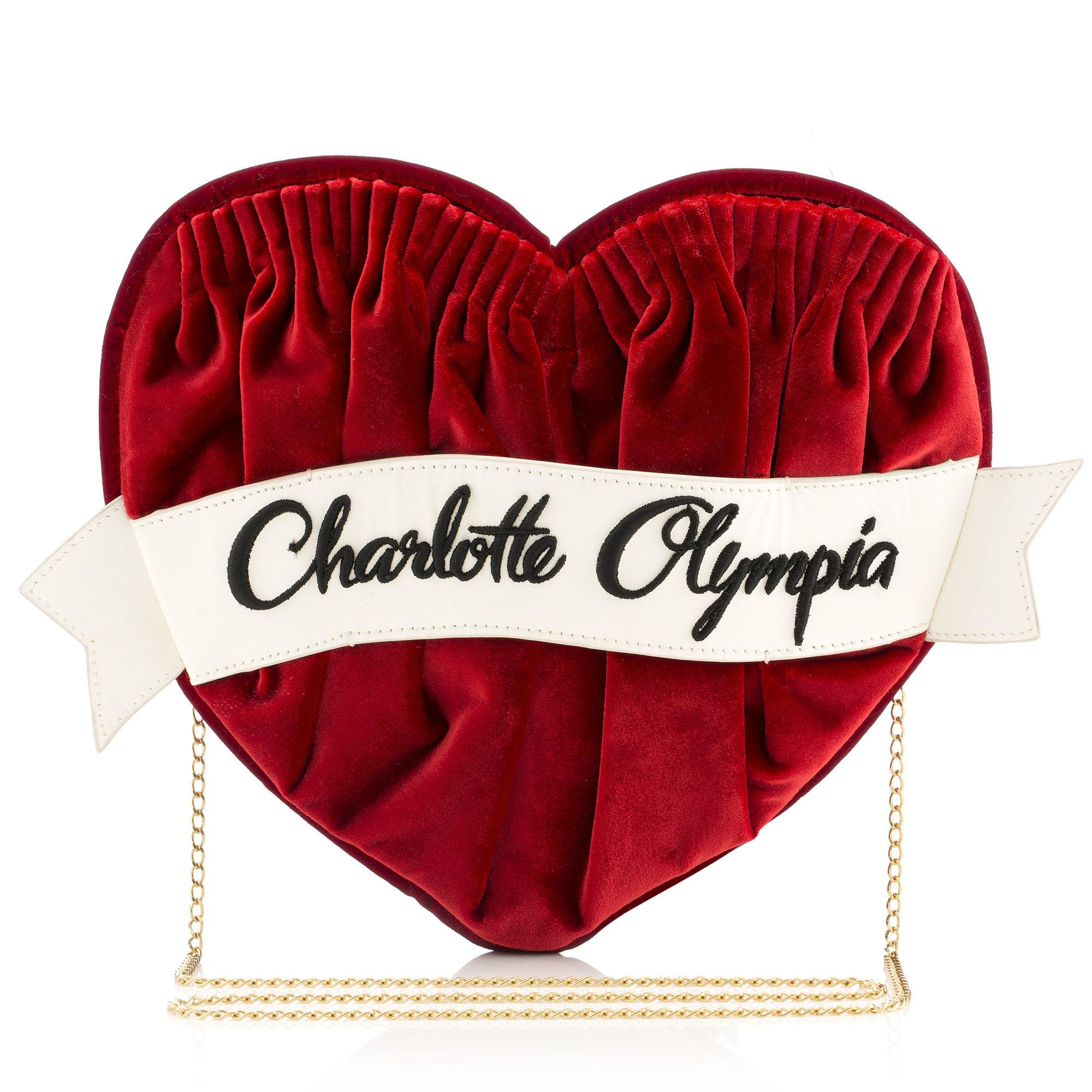 Charlotte Olympia Forever Clutch Bag In Red