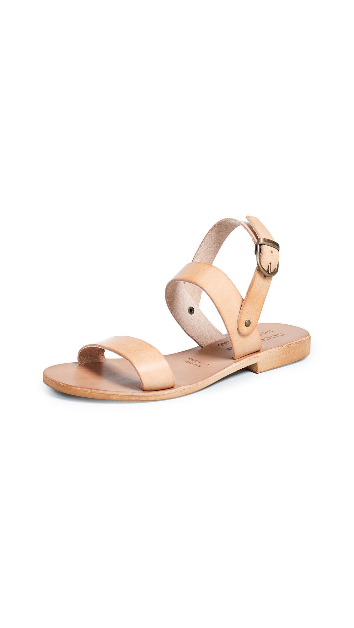 908e8a44e14a84 Cocobelle Kiki Ankle Strap Sandals In Tan