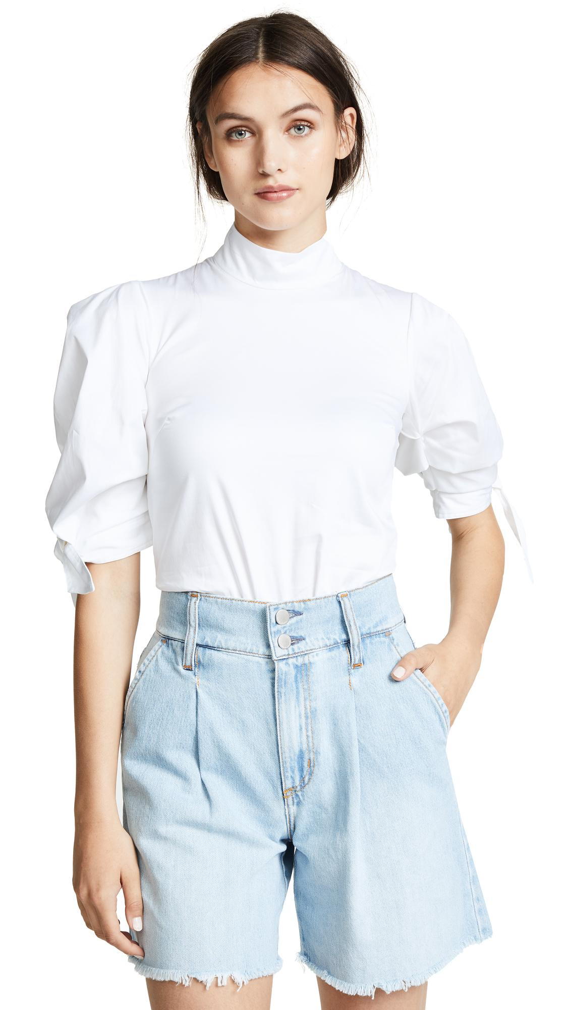 Paper London Rose Top In White