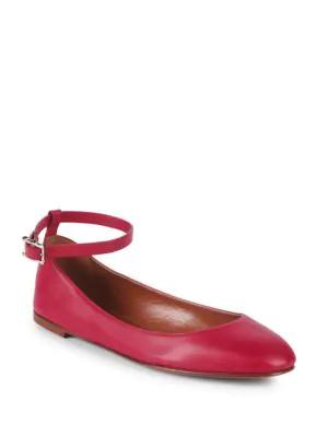 ffa3cc6e880 Valentino Classic Leather Ballet Flats In Hotpink