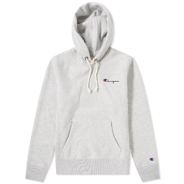 b11e1af2d3f CHAMPION. Champion Reverse Weave Women's Small Script Logo Hoody in Grey