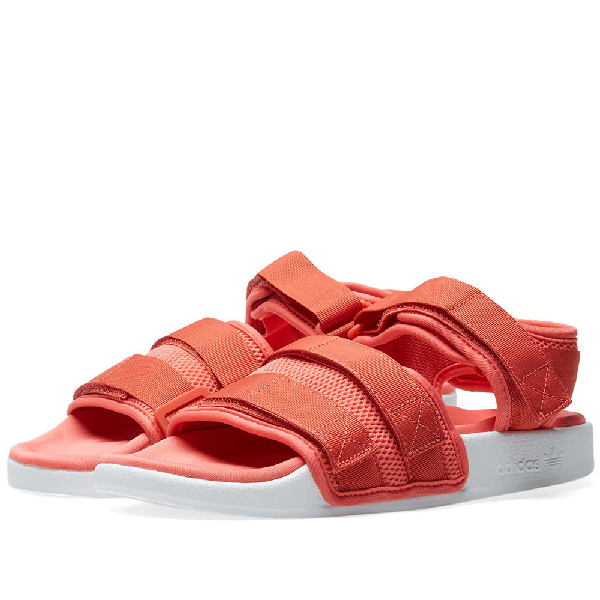 fdc06621cd6b Adidas Originals Adidas Adilette 2.0 Sandals In Red - Red In Pink ...