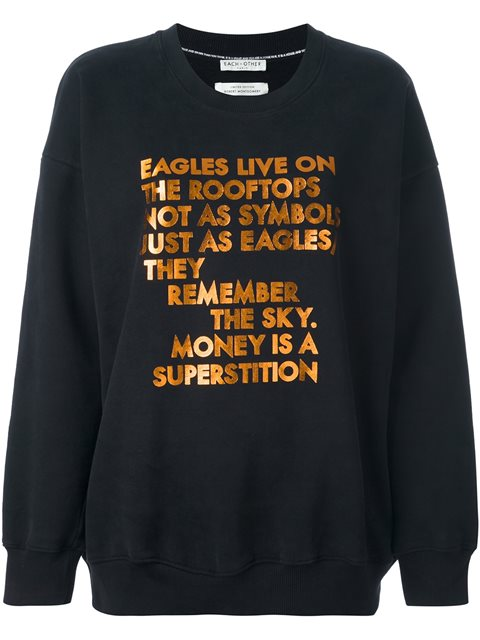 Each X Other Quote Sweatshirt In Black