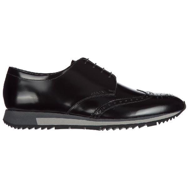 Herrenschuhe Leder Herren Business Schuhe Schnürschuhe Spazzolato Fume Derby In Black