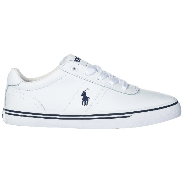 Men'S Shoes Leather Trainers Sneakers Hanford in White