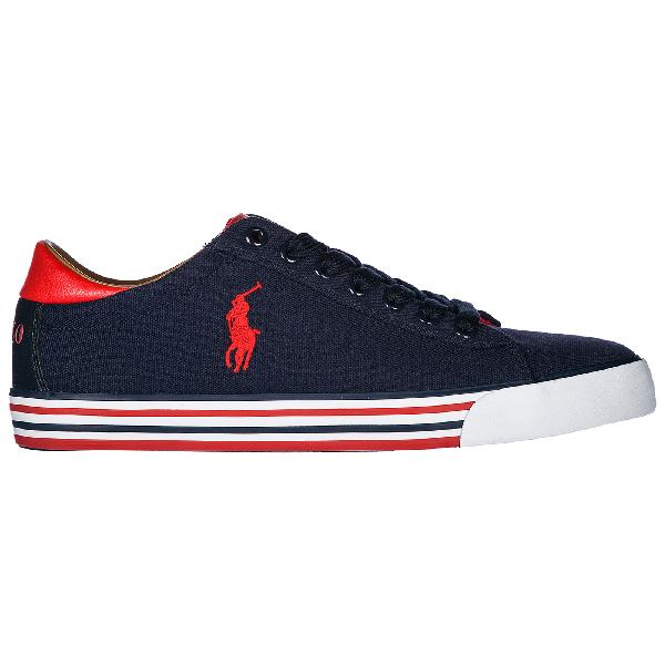 Polo Ralph Lauren Men's Shoes Trainers Sneakers  Harvey In Blue