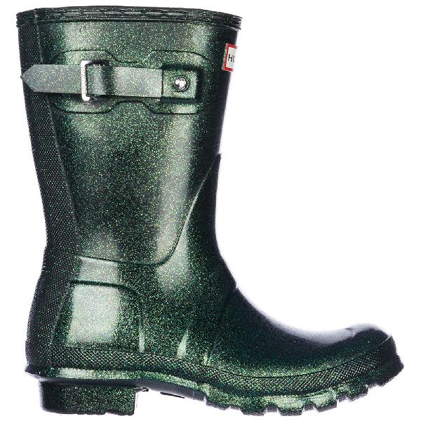 Women S Rubber Rain Boots Wellington Short Starcloud In Green
