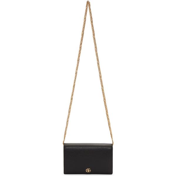 26b848ad7eb GUCCI. Gucci Black Small Marmont Shoulder Bag in 1000 Black