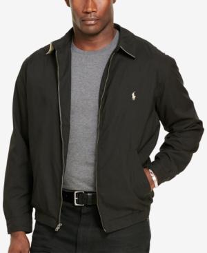 81129a1e6e0063 Polo Ralph Lauren Men's Big And Tall Jackets, Bi-Swing Windbreaker In Polo  Black