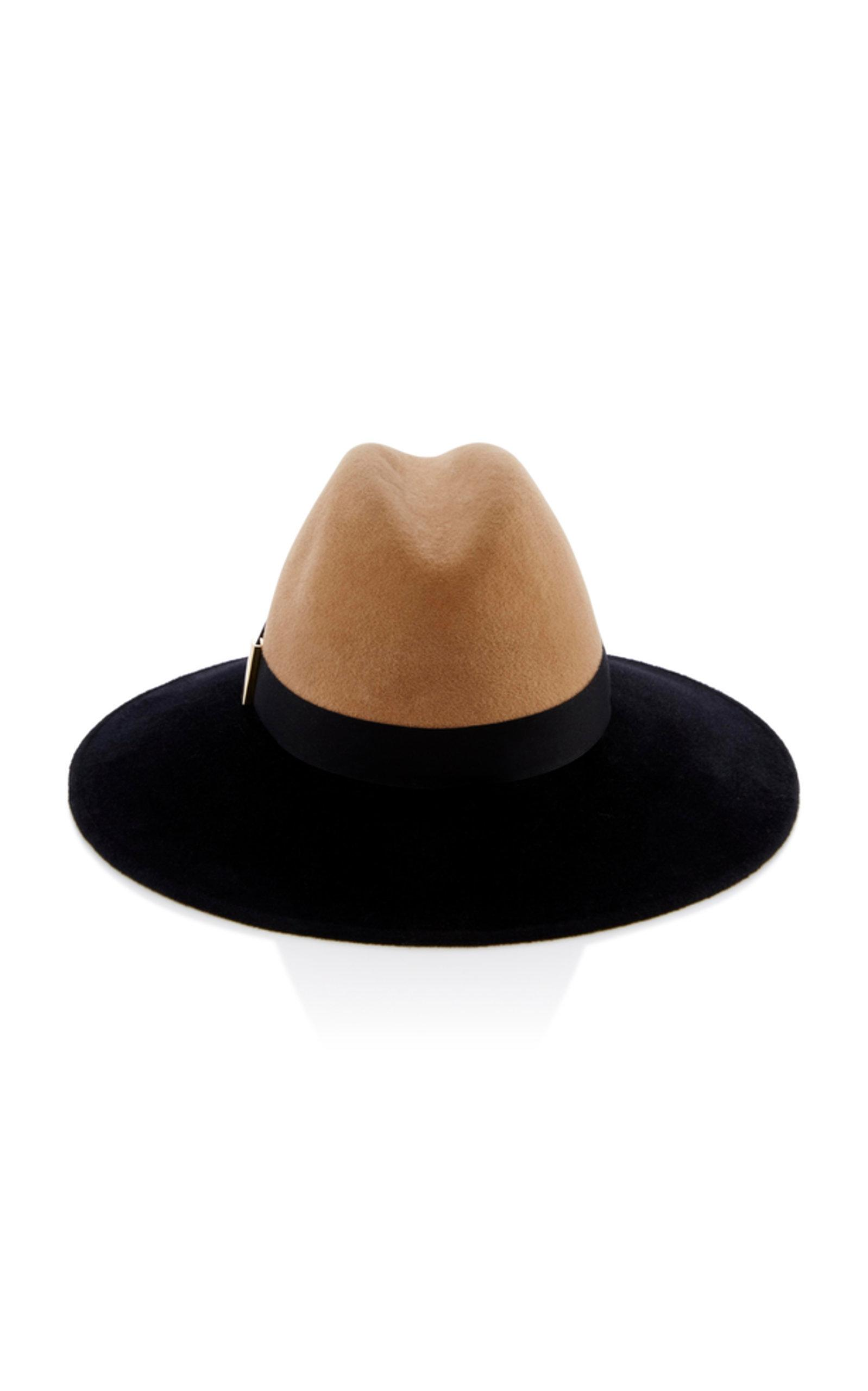 ccea4801b2182 Gigi Burris Requiem Wide-Brim Brushed Felt Fedora In Black