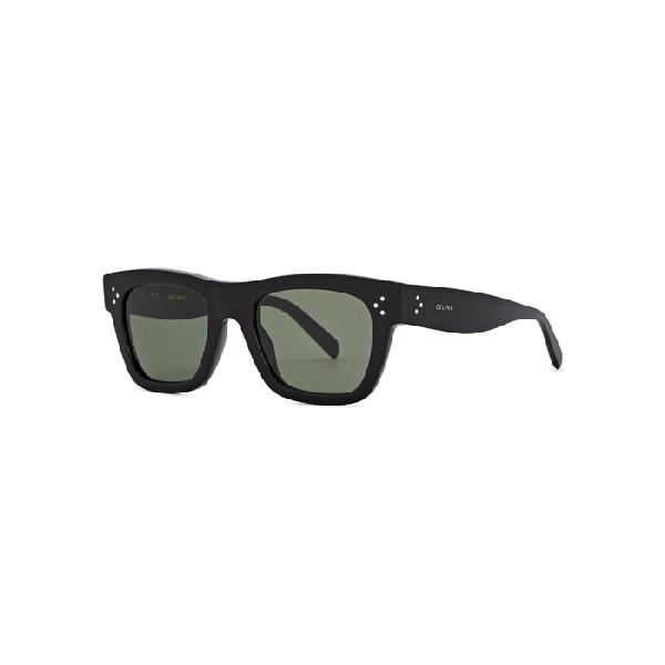 7863a37be78 Celine Black Wayfarer-Style Sunglasses