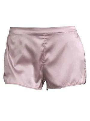 Fleur Du Mal Jasmine Silk Shorts In Jasmine Pink