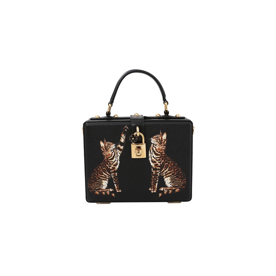 5d0d86e3c2 Dolce   Gabbana Dolce Box Printed Leather Crossbody Bag In Black ...