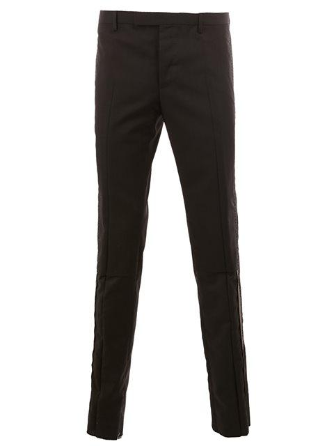 Lanvin Black Wool Topstitched Trousers