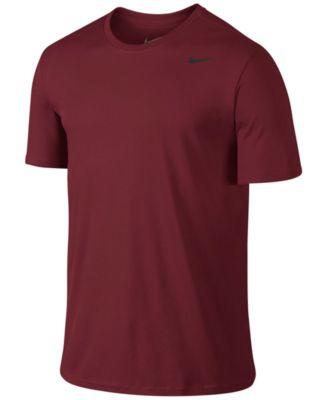 Nike Men's Dri-fit Cotton Crew Neck T-shirt In Team Red/black