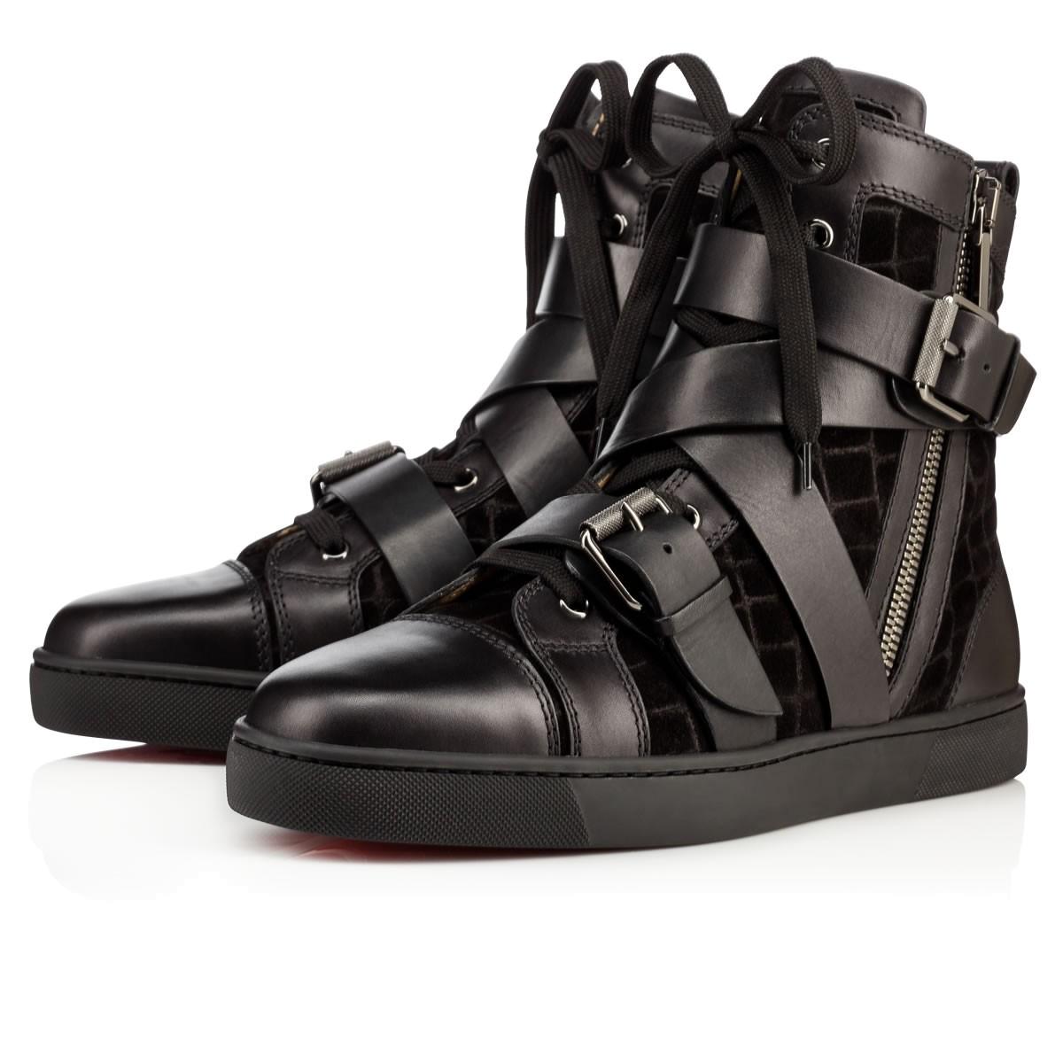 tout neuf 77c6c b55cf Snap Shoot Calf/Crosta Dundee Black Veau Velours - Men Shoes - Christian  Louboutin