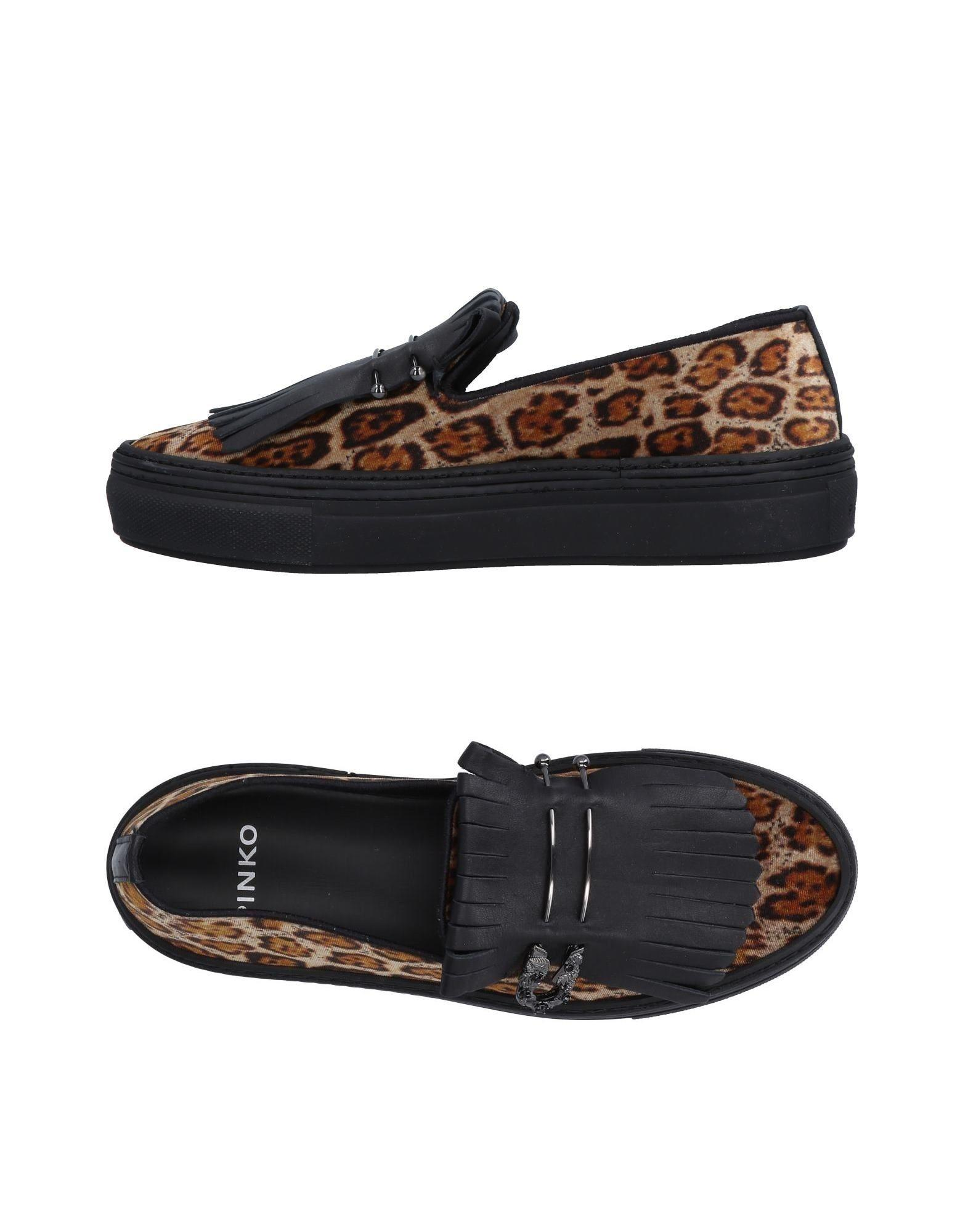 Pinko Loafers In Khaki