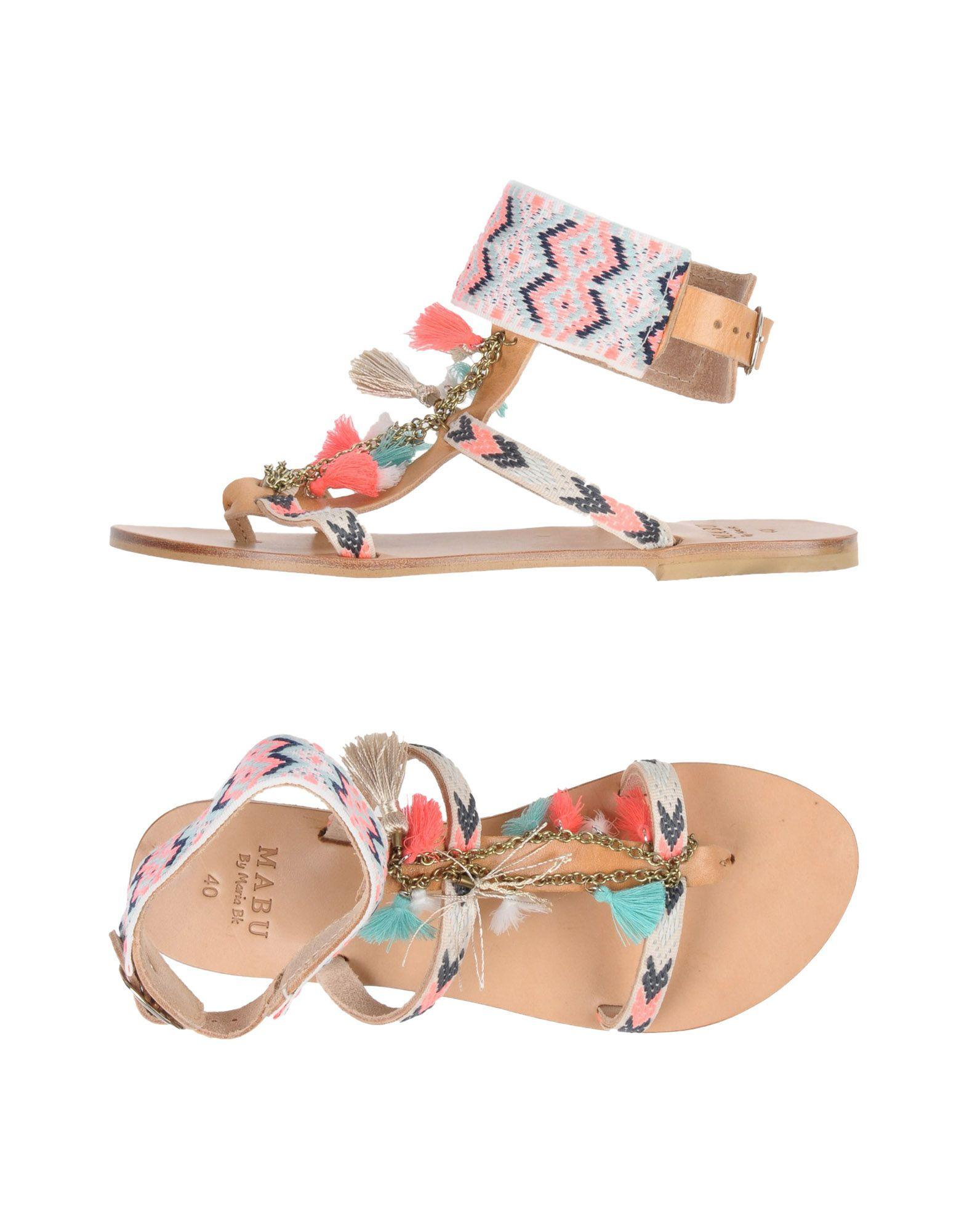 Mabu By Maria Bk Flip Flops In Pink