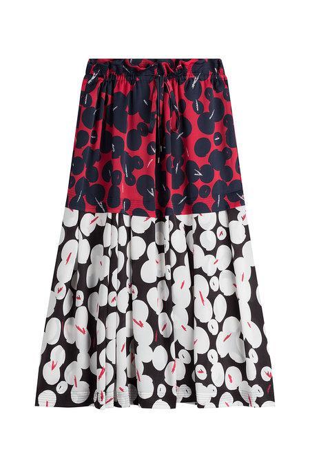 Jil Sander Printed Skirt In Multicolored