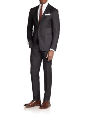 Polo Ralph Lauren Classic-fit Wool Twill Suit In Charcoal
