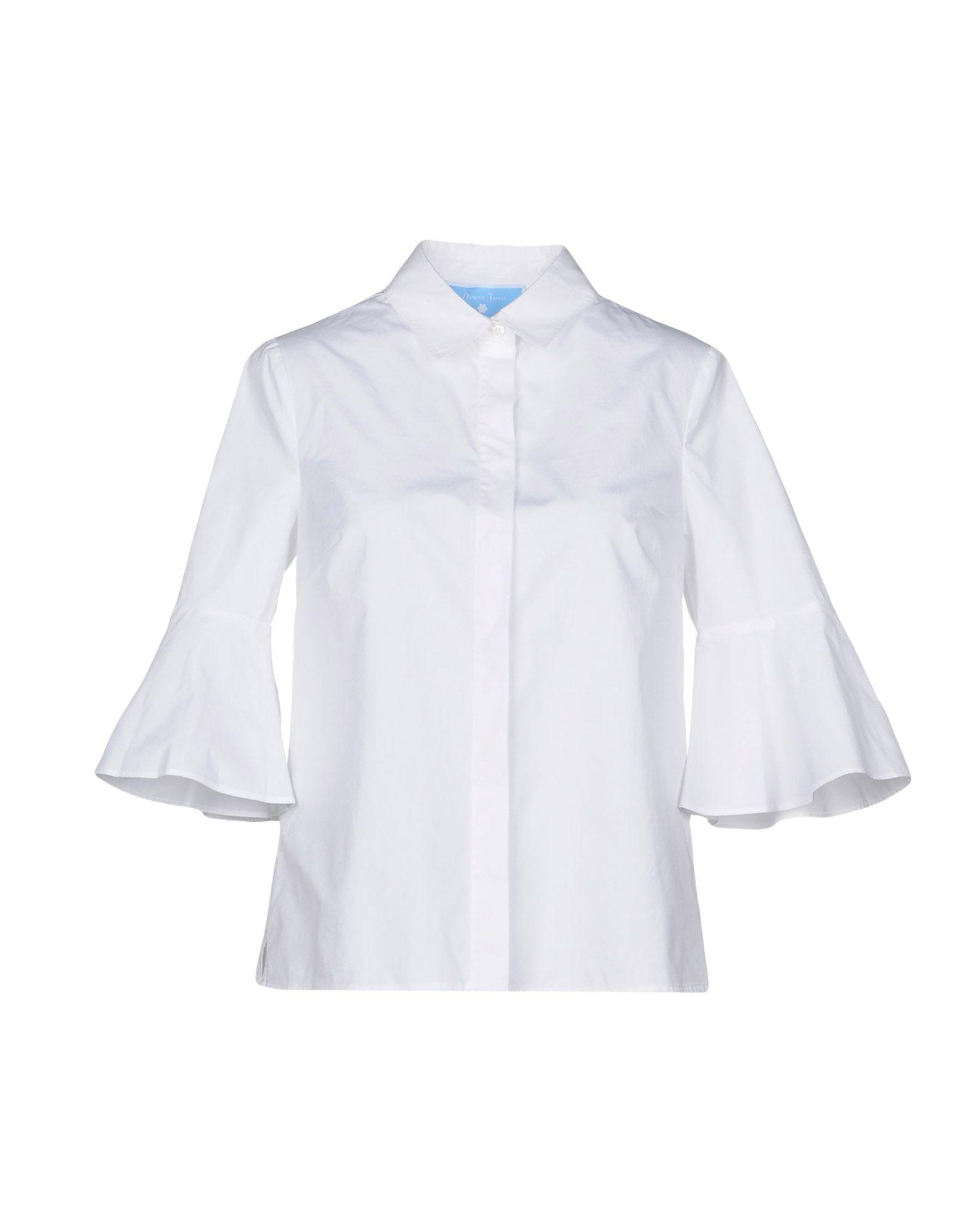 Draper James Solid Color Shirts & Blouses In White