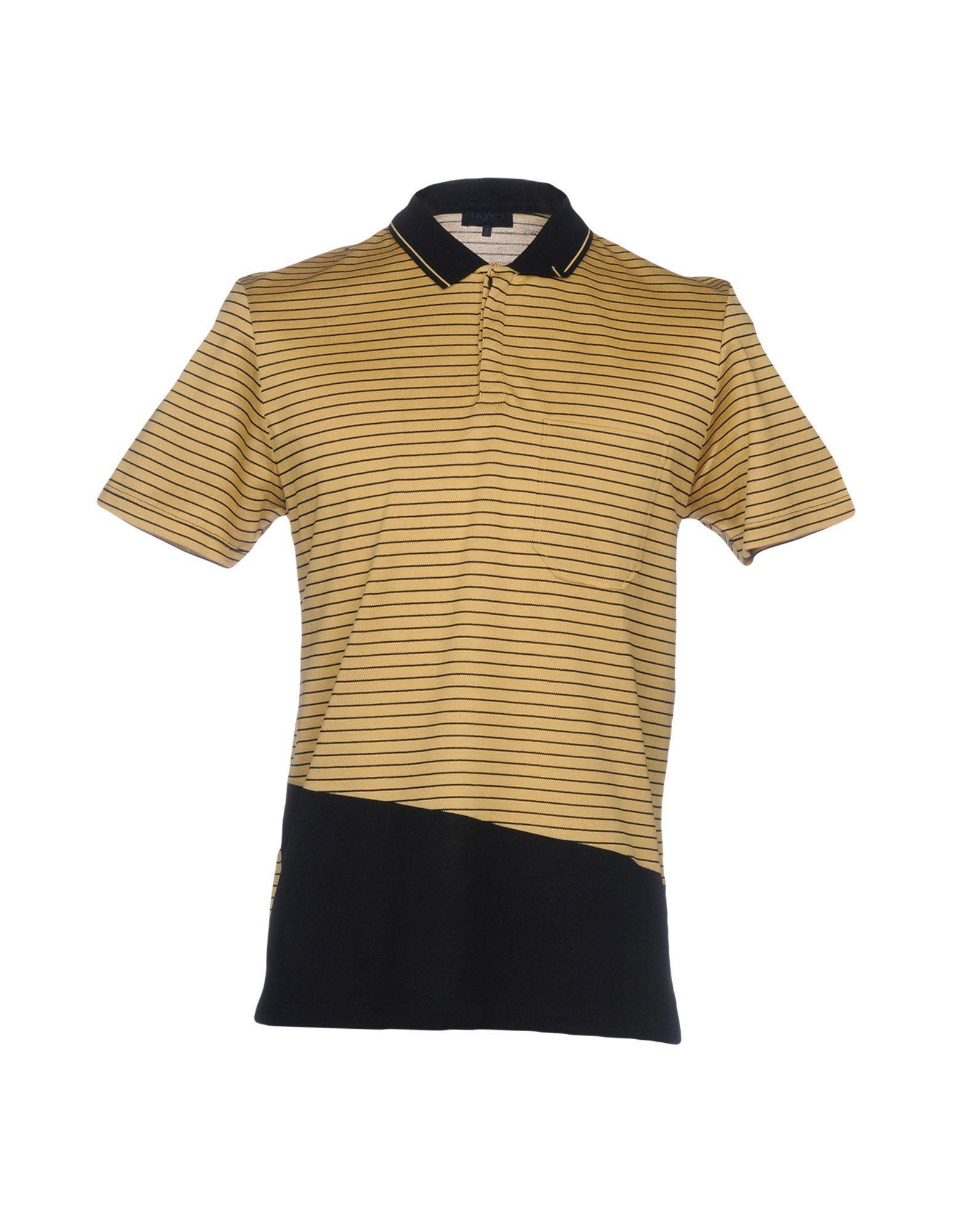 Lanvin Polo Shirt In Beige
