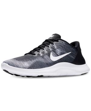 timeless design c0c2e 01329 Nike Men s Flex Run 2018 Running Sneakers From Finish Line In Black White