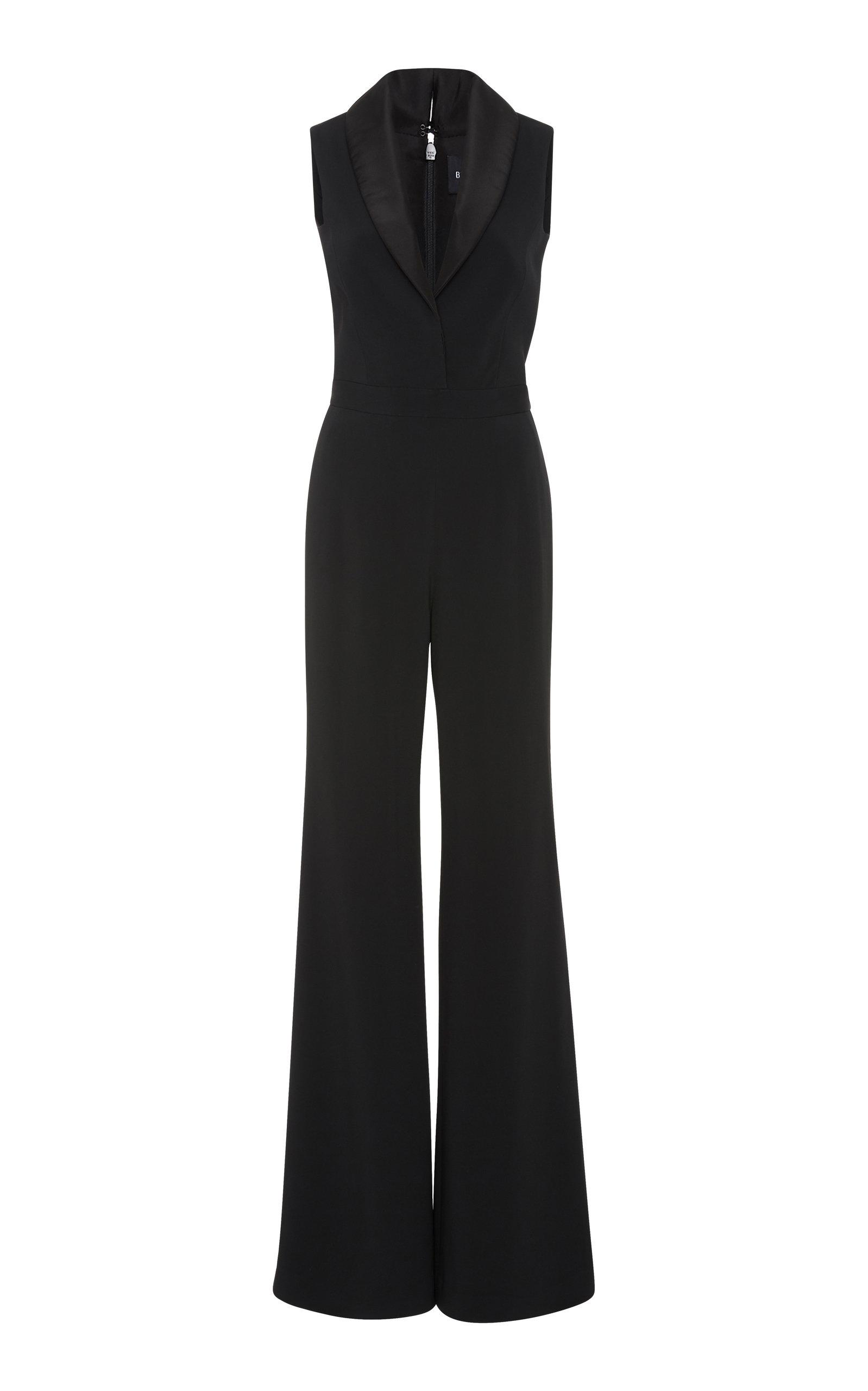 2187ae2413e1 Brandon Maxwell Shawl Collar Jumpsuit In Black