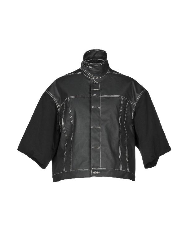 Rick Owens Drkshdw Jacket In Steel Grey