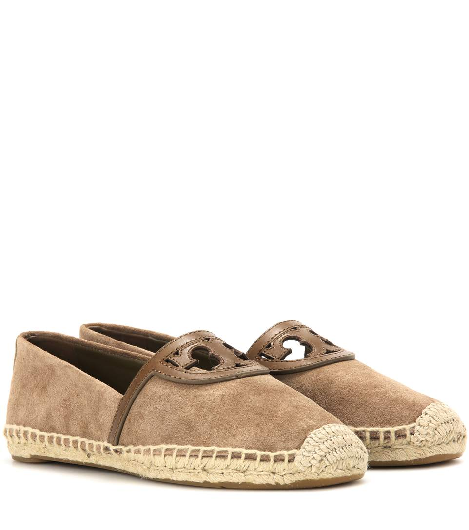 e50d1eee0bcf Tory Burch Sidney Suede And Leather Espadrilles In River Rock