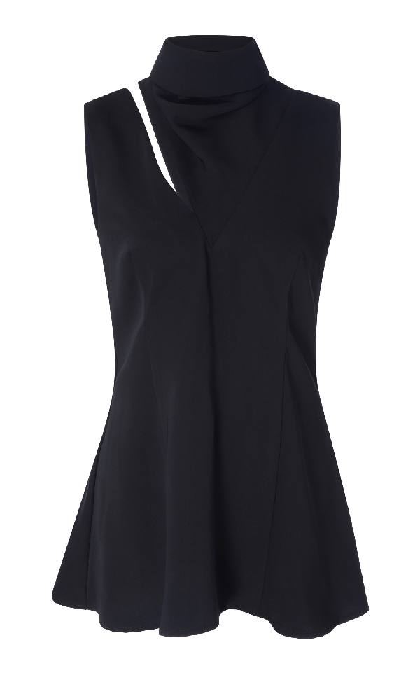Beaufille Funnel Neck Sleeveless Top In Black