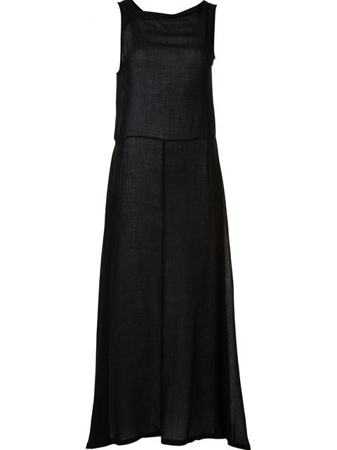 Ann Demeulemeester Flared Maxi Dress - Black