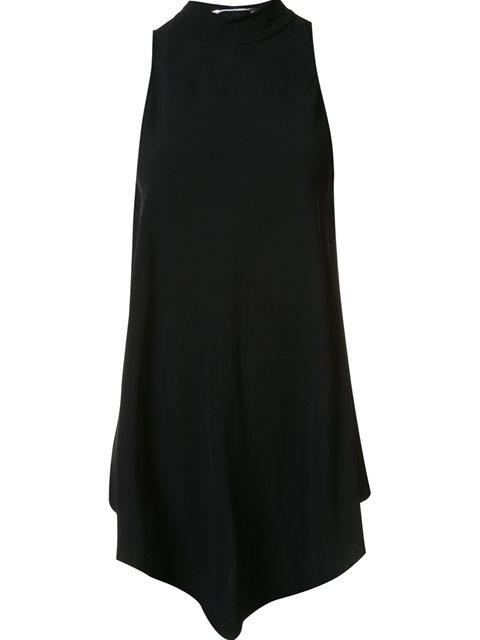Proenza Schouler Handkerchief Hem Dress In Black