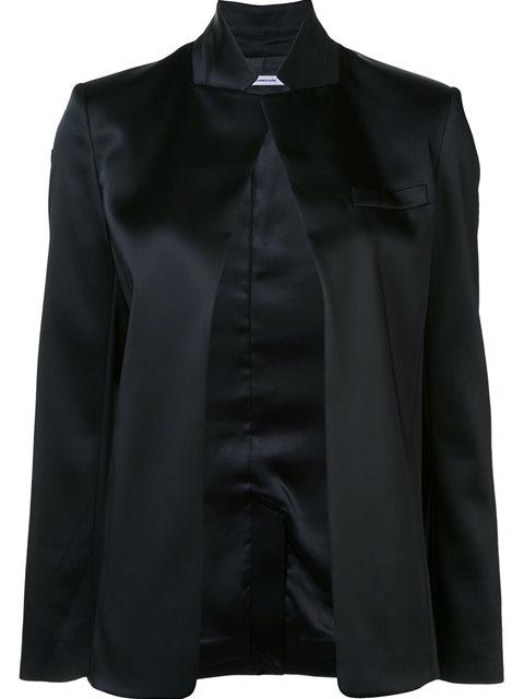Alexander Wang T Stretch Satin Blazer In Black