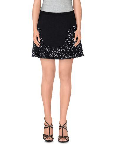 Roberto Cavalli Jacquard Stretch Knit Skirt In Black