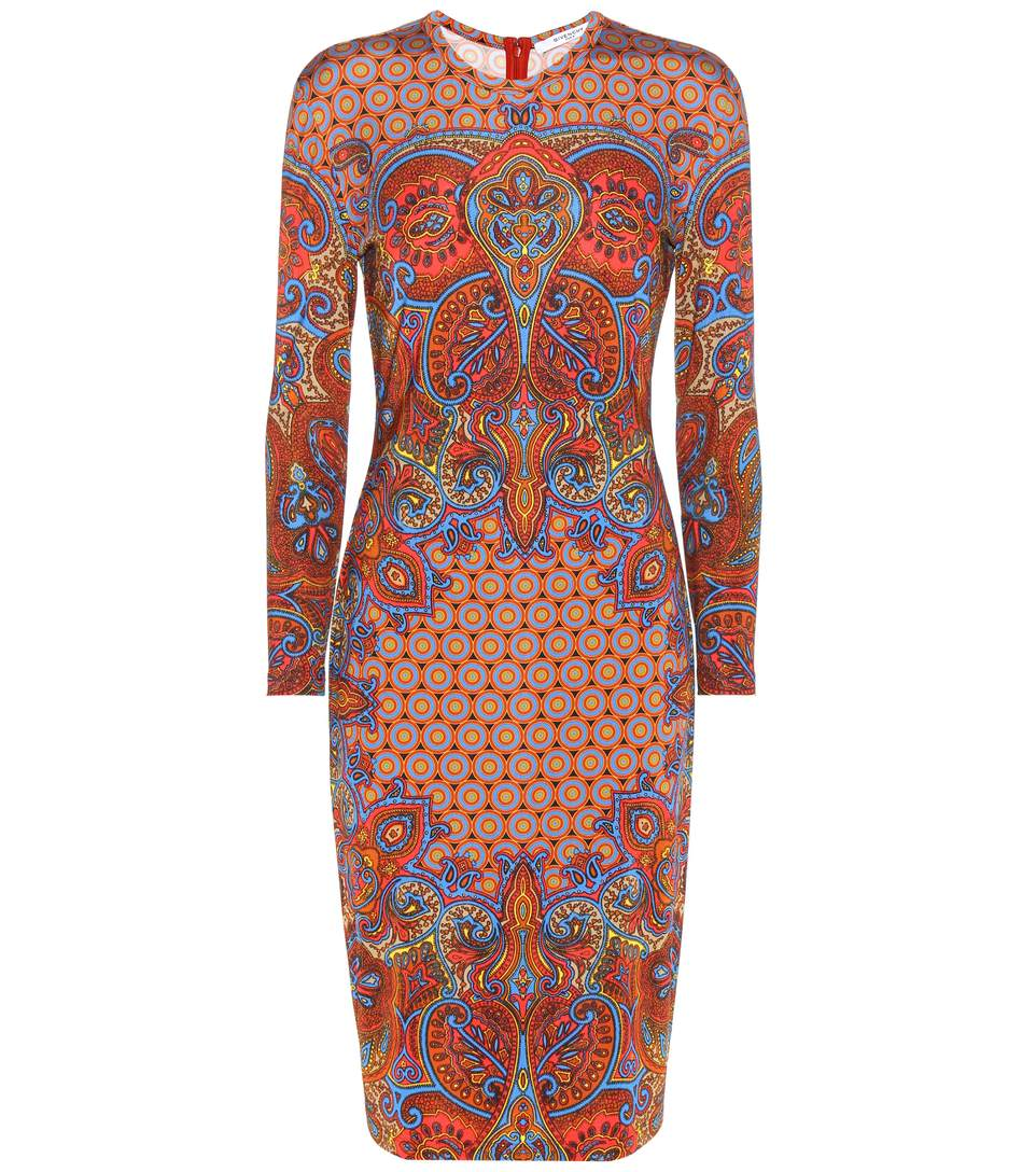 Givenchy Printed Dress In Multicolored