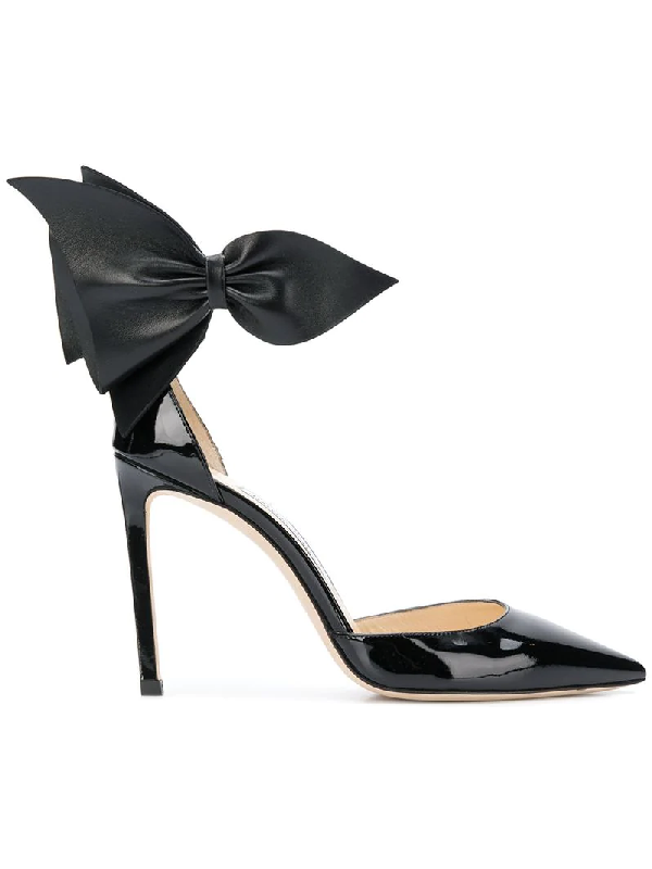 6f85c30bde39 Jimmy Choo Kelly Bow-Embellished Patent Leather Pumps In Black ...