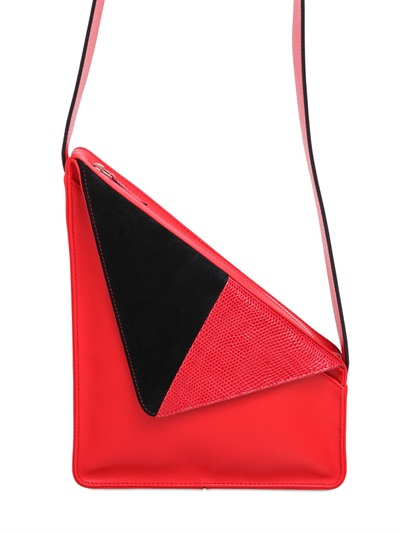 J.W.Anderson Triangle Leather Shoulder Bag In Red