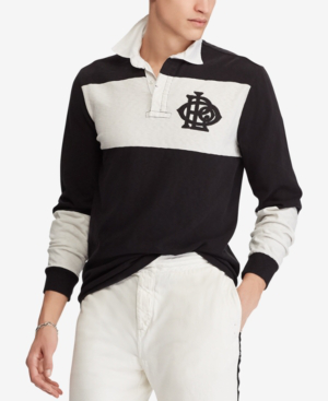 7f27d111 Polo Ralph Lauren Men's Big & Tall Classic Fit Cotton Rugby Shirt In Polo  Black/