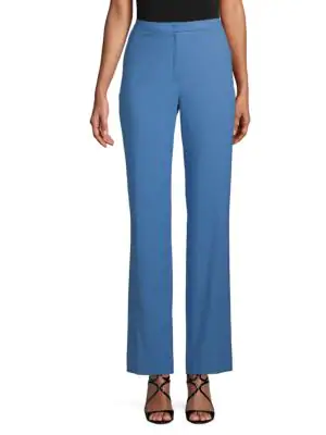 Escada Tamineh Wide-Leg Pants In Blue